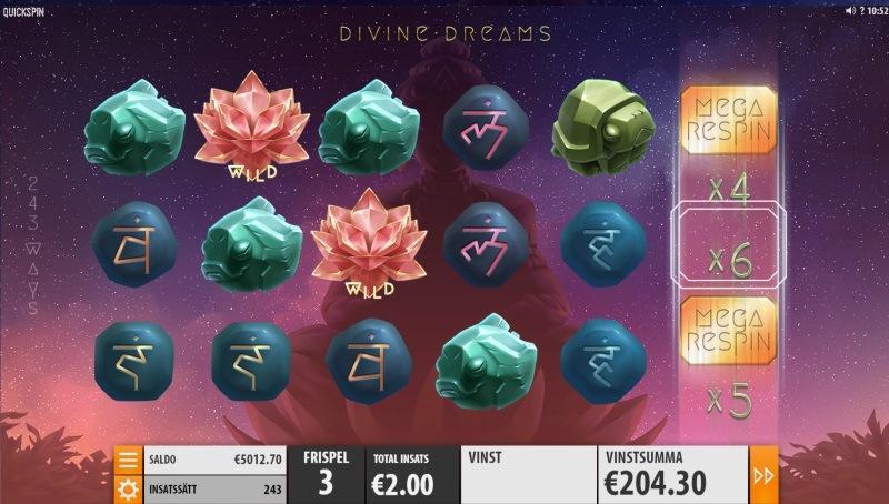 Senaste spelsläppet från Quickspin: Divine Dreams
