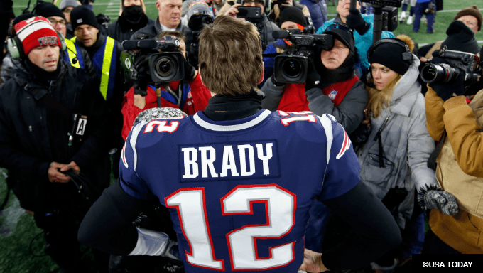 best sneakers 5d08b 0aa54 Patriots AFC Championship Underdogs for 1st Time Since 2013