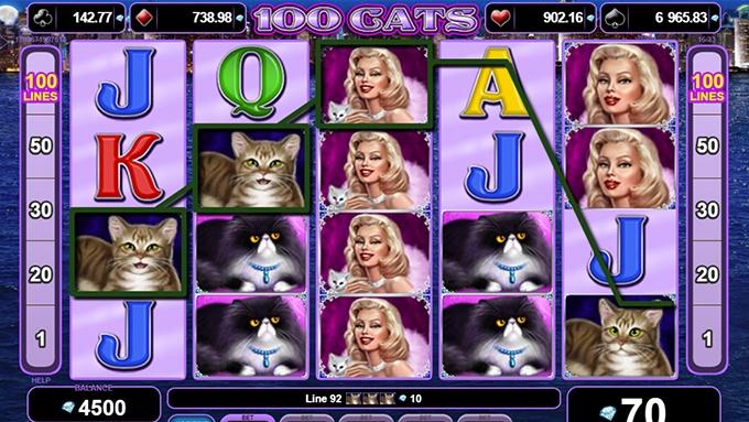 Spielautomat 100 Cats