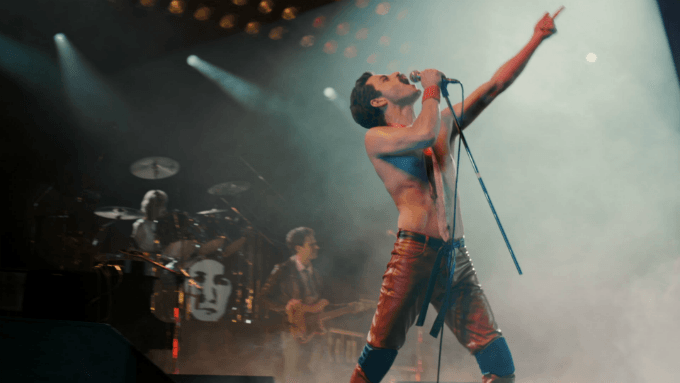 Rami Malek as Freddie Mercury in film Bohemian Rhapsody