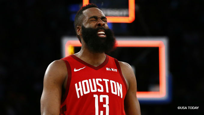 Harden's Over/Under vs. Raptors an NBA Betting Record 41.5