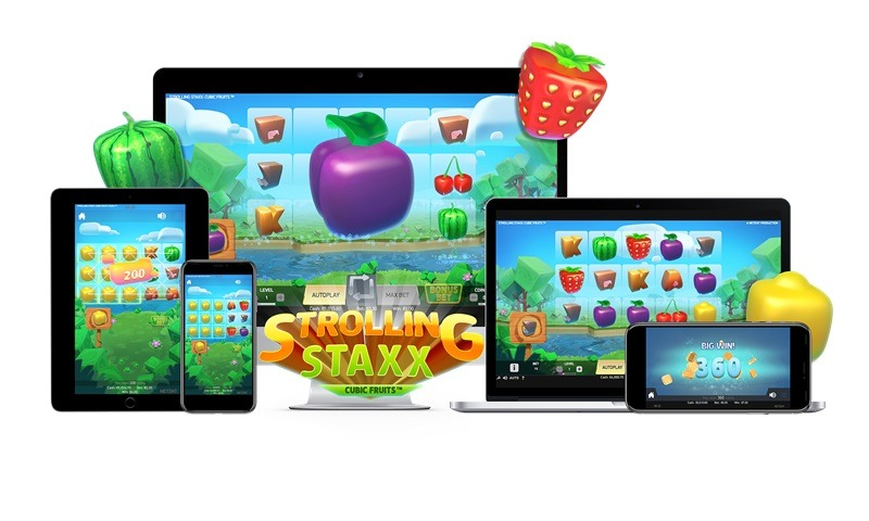 NetEnts senaste spelsläpp: Strolling Staxx Cubic Fruits