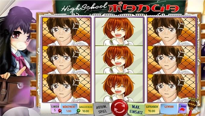 Highschool Manga Spielautomat