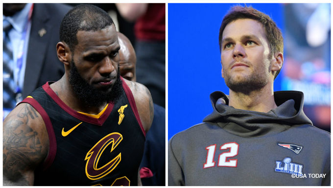 Tom Brady and LeBron James