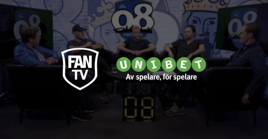 Unibet blir ny sponsor för FanTV och 08 Fotboll