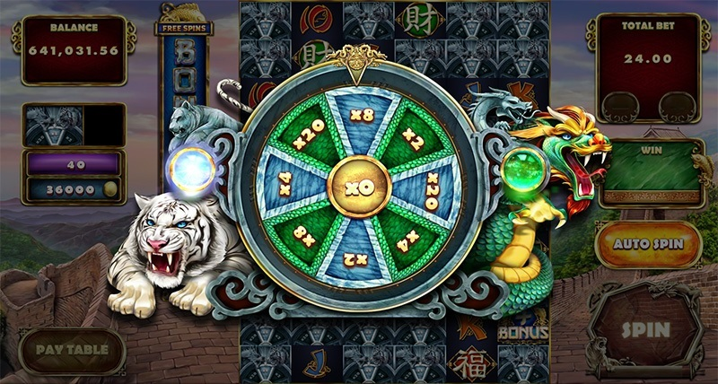 Tiger and Dragon Roulette minispel