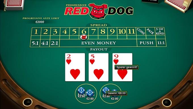 Red Dog Progressive Spielautomat