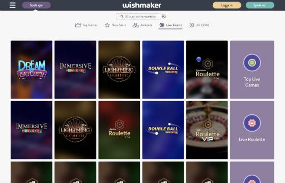 Wishmaker Live Casino