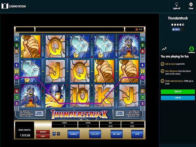 casino room bonus games