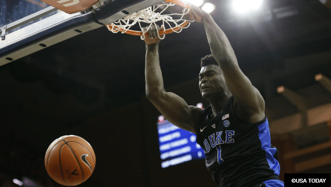 Zion Williamson NBA Draft Betting Advice, Odds and Markets