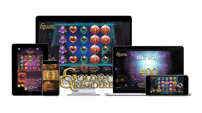 NetEnt släpper magiska spelautomaten Golden Grimoire
