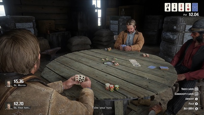 Pokerspill i Red Dead Redemption 2