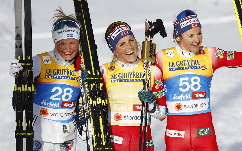 Frida Karlsson och Therese Johaug Skid VM