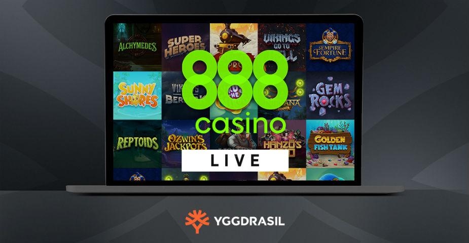 Yggdrasil lanserar sina spel med 888 Casino