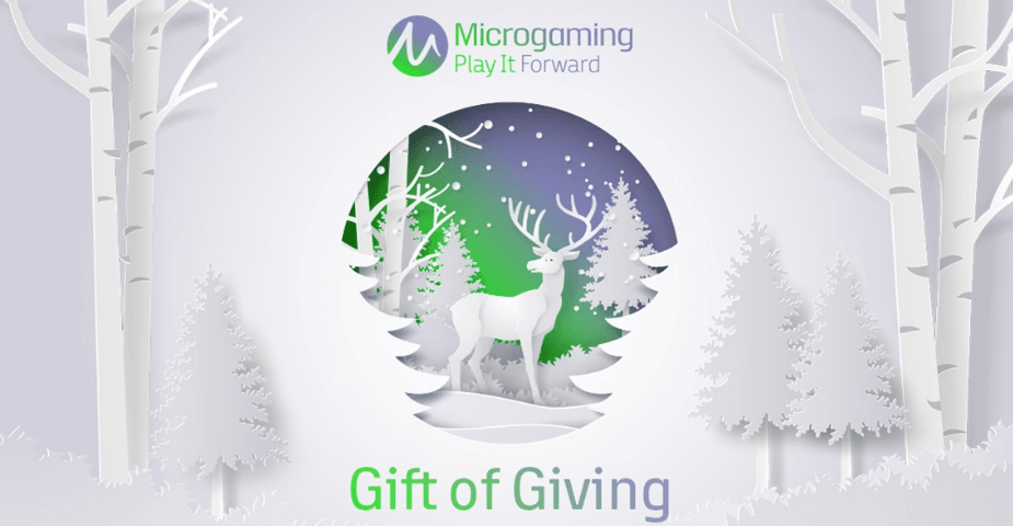Microgaming Gift of Giving ger 30000£ till fyra välgörenheter