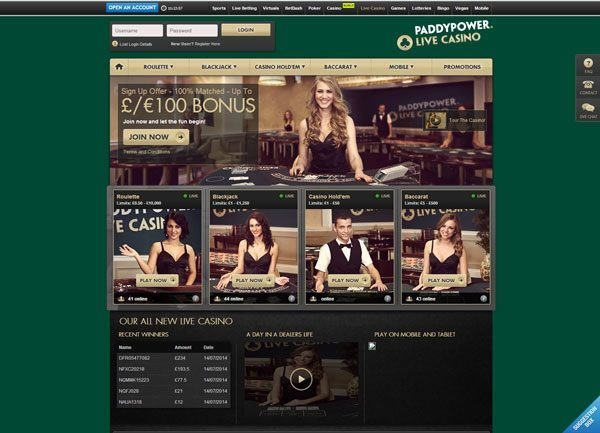 paddy power live casino
