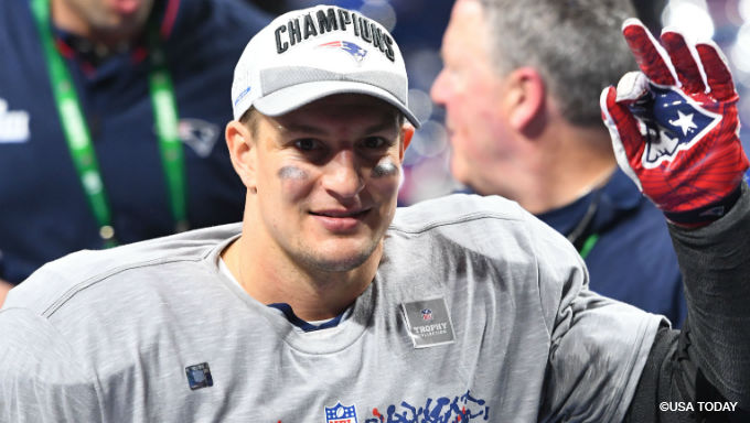 Why Gronk Retiring Doesn't Shift Patriots Super Bowl Odds