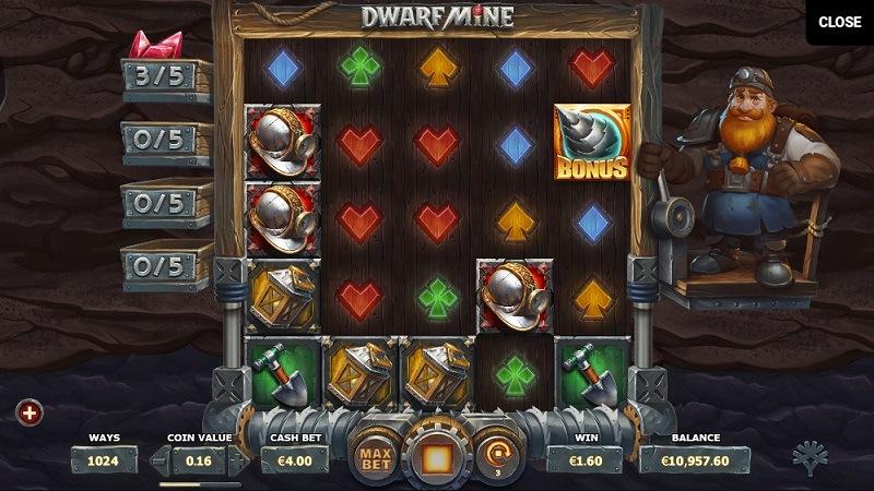 Yggdrasil Dwarf Mine slot