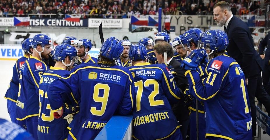 Tre Kronor i spännande match mot Lettland ikväll