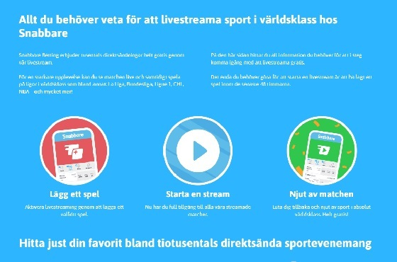 Sport live-streaming