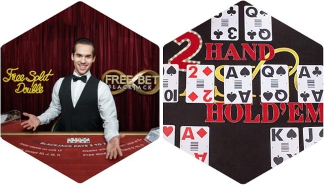 Free Bet Blackjack Live & 2 Hand Casino Hold'em Evolution Gaming
