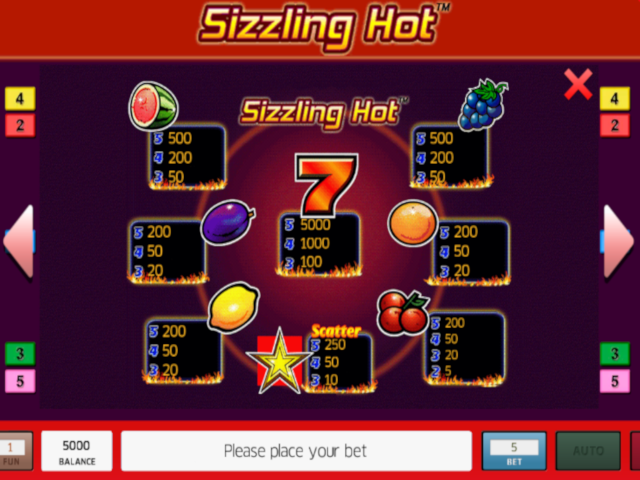Play Sizzling Hot 9 Line