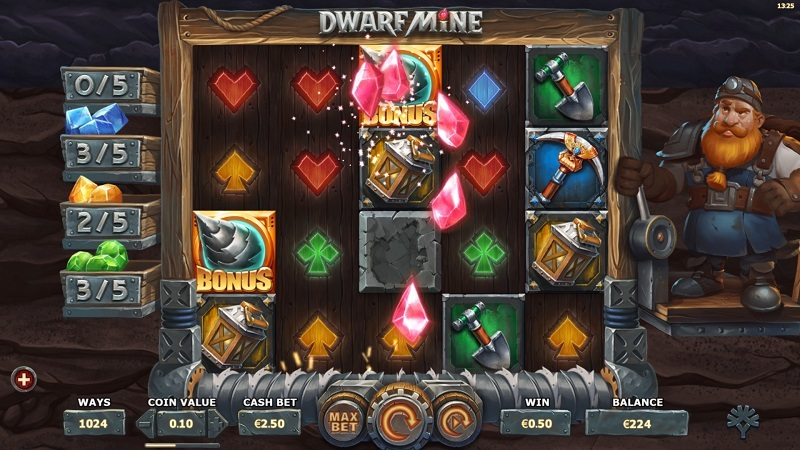 Topp 6 slots med bästa bonusrundorna Dwarf Mine Yggdrasil