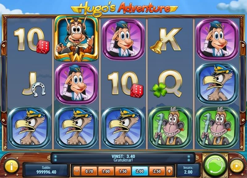 Hugos Adventure spelautomat