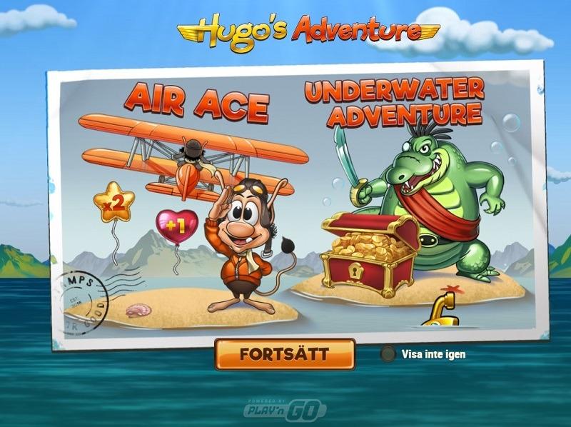Hugo bonusspel Air Ace och Underwater Adventure