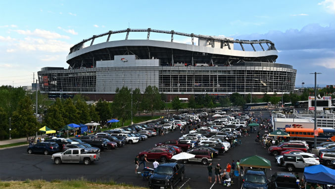 Mile High Stadium in Denver.