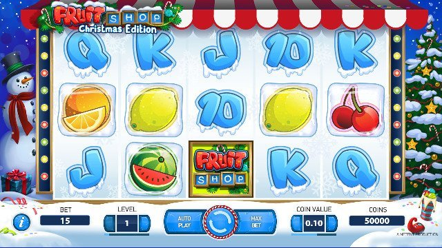 Snurra på julpyntat spel i casino med mobilbetalning