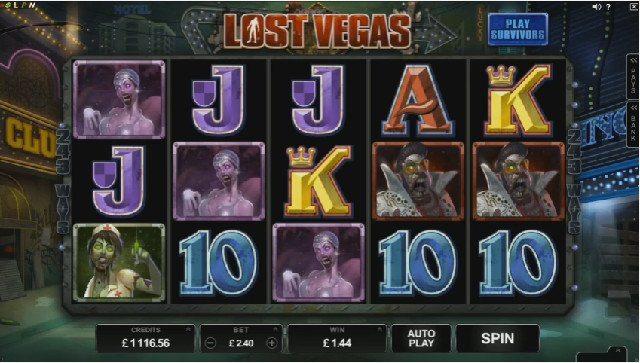 Överlevare och zombies i Android casino