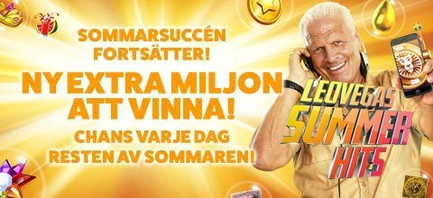 Ny miljon i LeoVegas svenska mobilcasino!