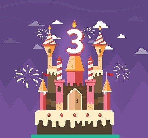Guts fyller tre år och firar med casinobonusar för mobilen
