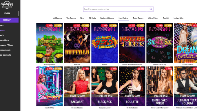 Hard Rock Atlantic City Offers First Remote Online Slots