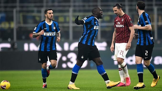 Giocatori di Inter e Milan