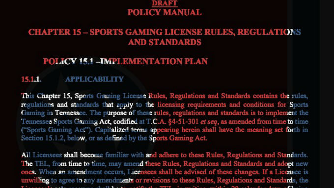 Tennessee Slowly Working Through Sports Betting Regulations