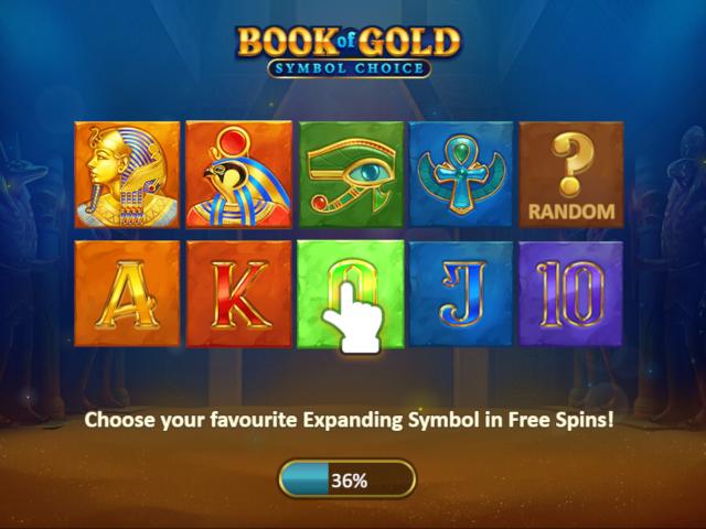 Book Of Gold Symbol Choice Slot Machine