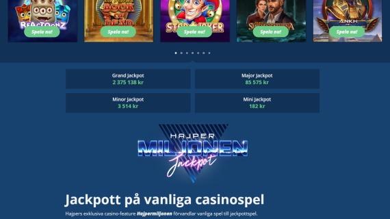 Hajper live casino