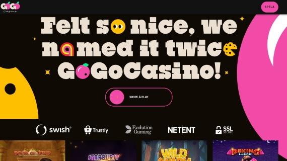 GoGo Casino spelutvecklare
