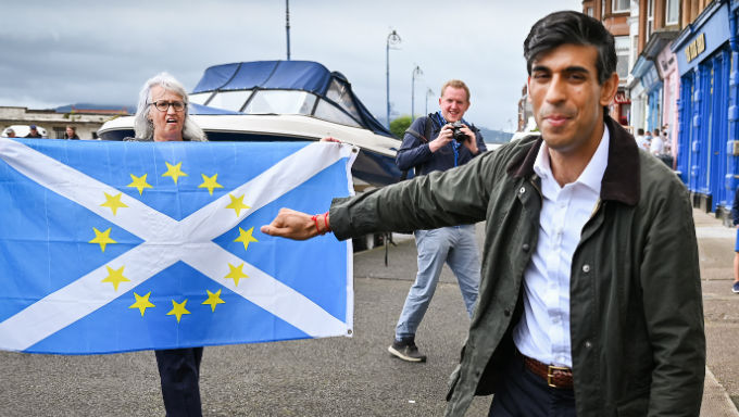 Scotland Rally Does Little To Aid Rishi Sunak's Faltering Odds
