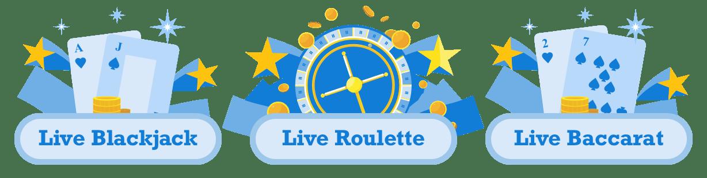 bästa live casino spel