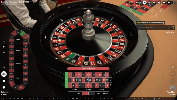 Deutsches Roulette von Pragmatic Play