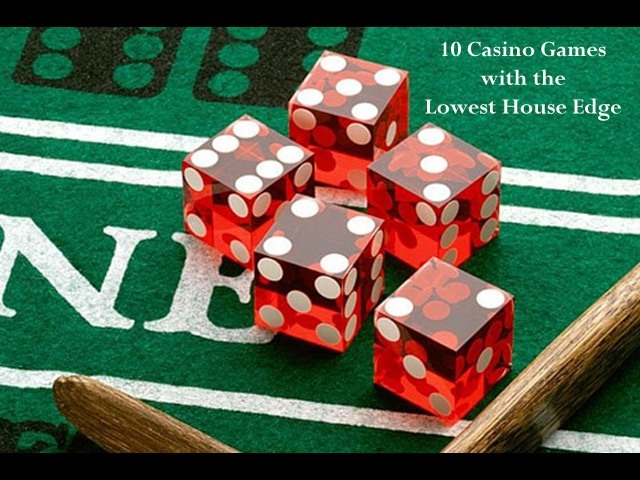 casino games with the lowest house edge